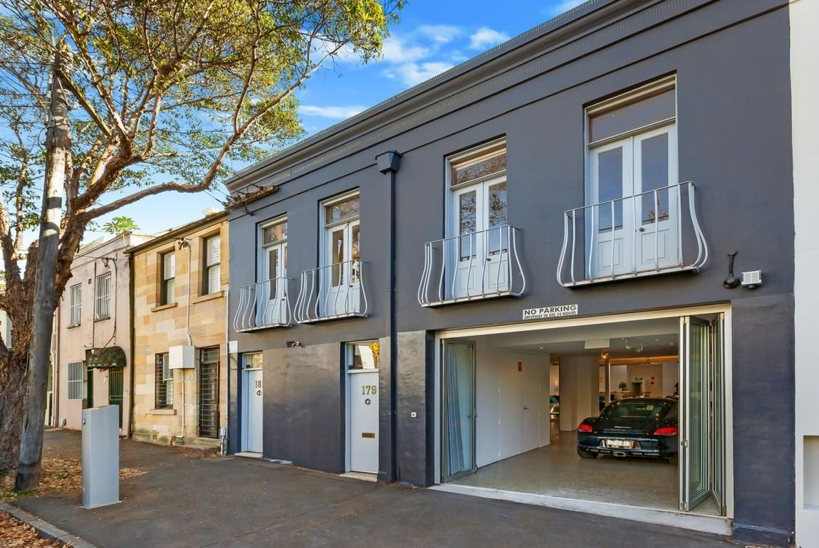 Garage Morphs Into Interior Row Home