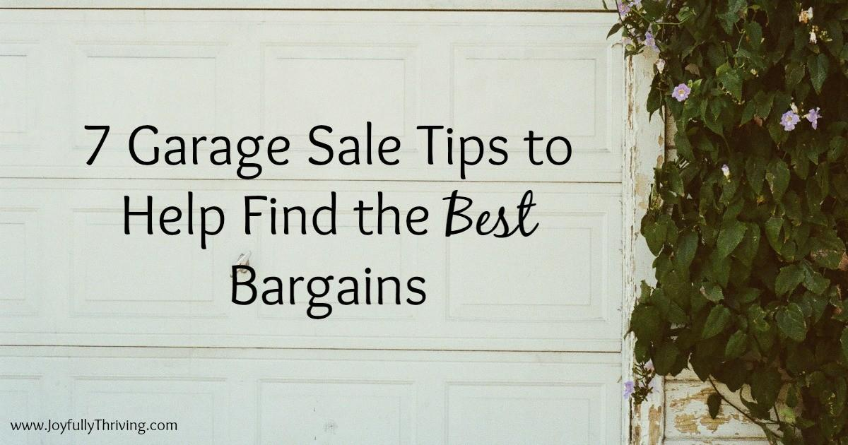 Garage Sale Tips Help Find Best Bargains