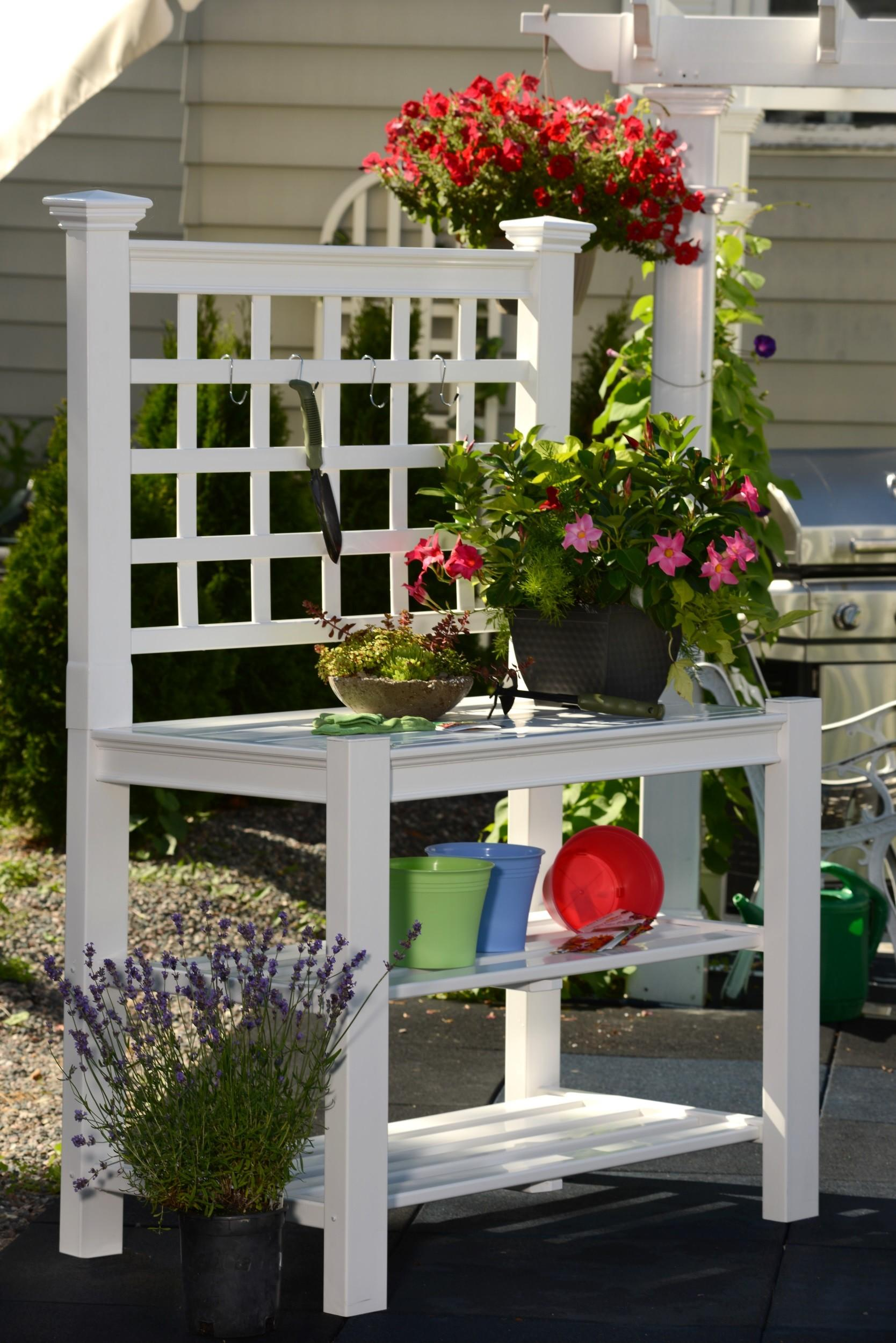 Garden Potting Bench Outdoor Work Station Planting Patio