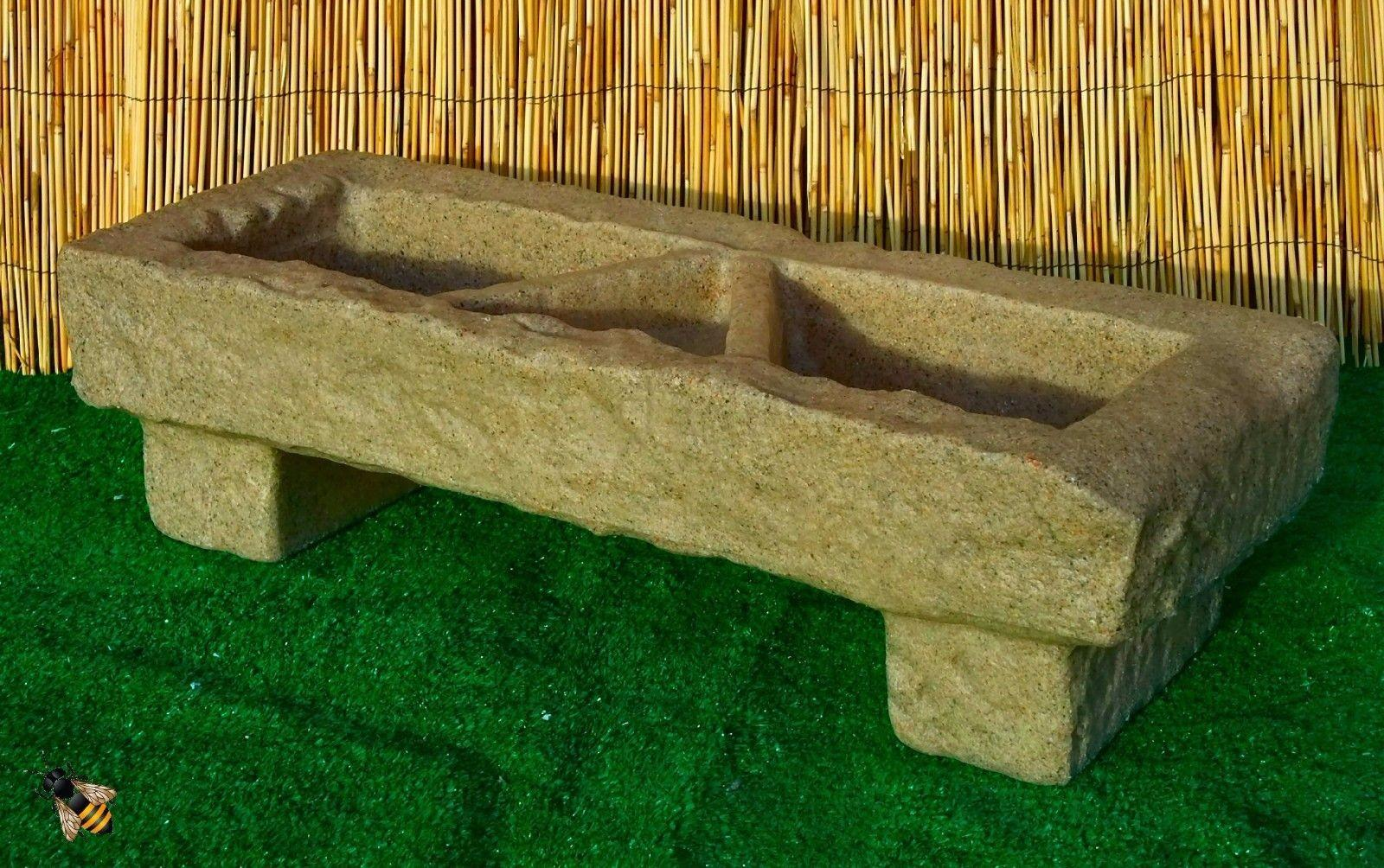 Garden Trough Planter Flower Pot Patio Tub Sandstone