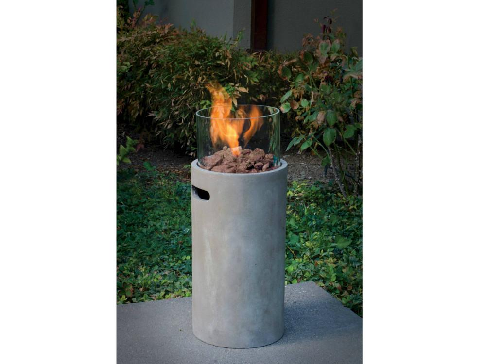 Gas Fire Pit Adds Elegant Warmth Any Outdoor