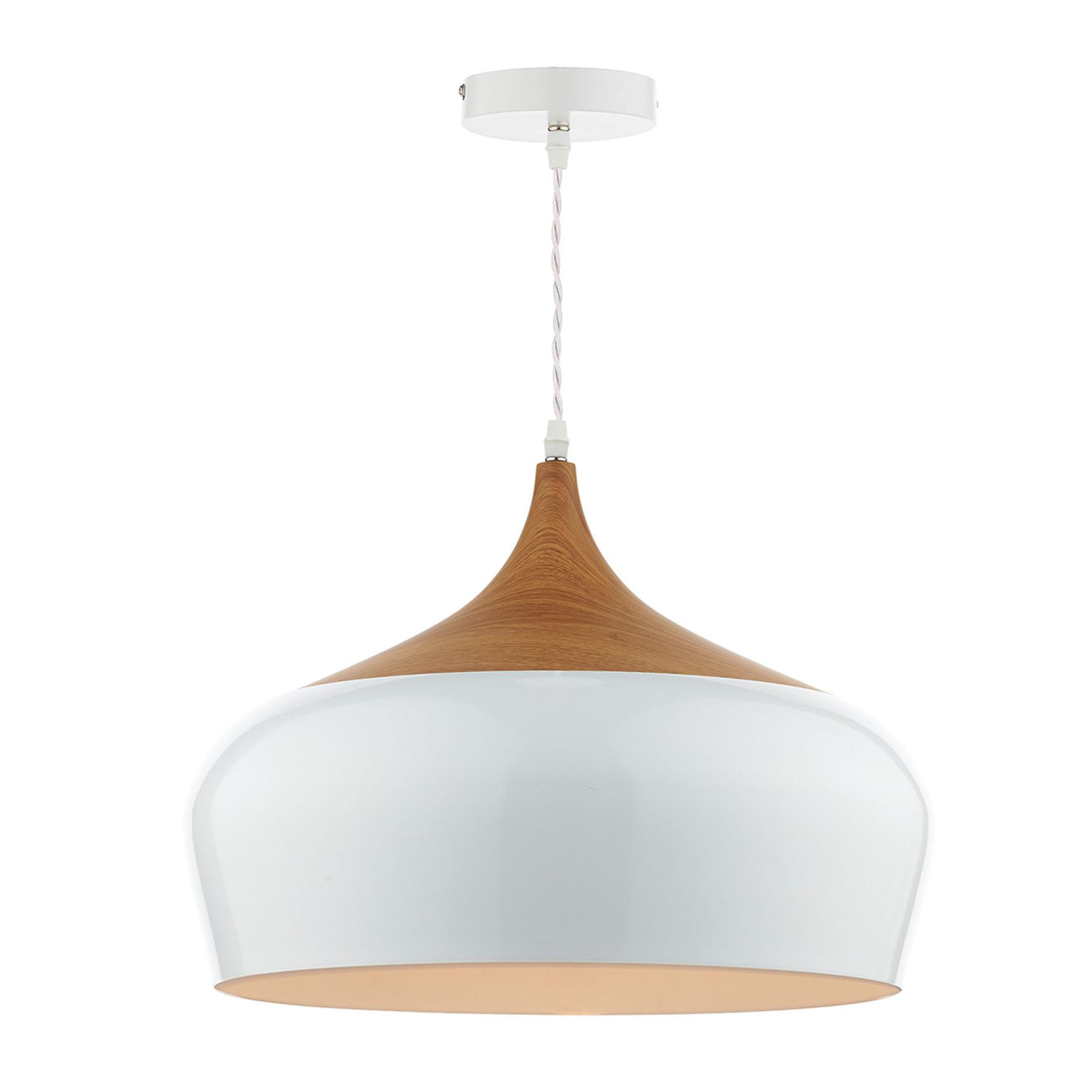 Gaucho White Wood Pendant Light