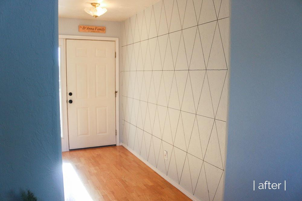 Geometric Accent Wall She Loves Happy