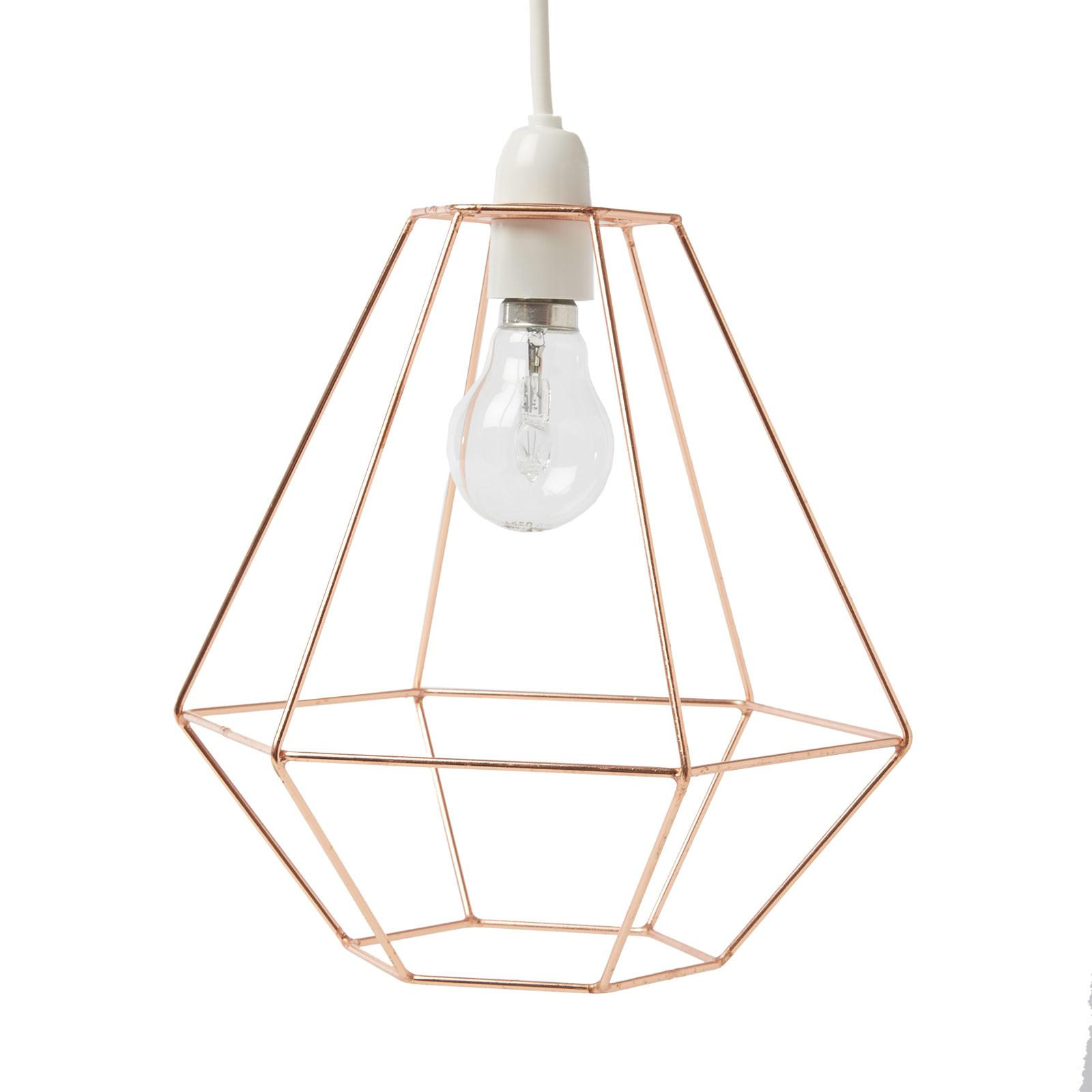 Geometric Metal Copper Wire Frame Ceiling Lampshade