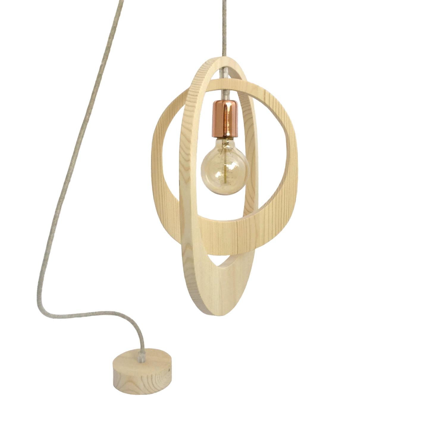 Geometric Orbit Wooden Pendant Light Lighting Ceiling
