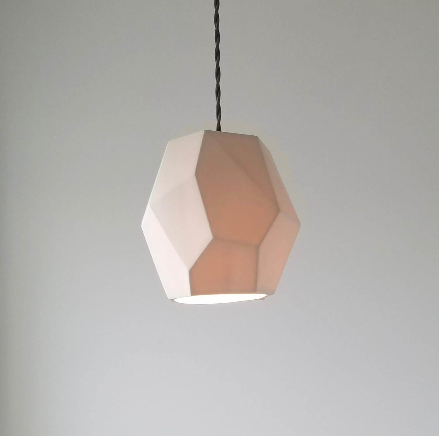 Geometric Porcelain Pendant Light Modern Lighting