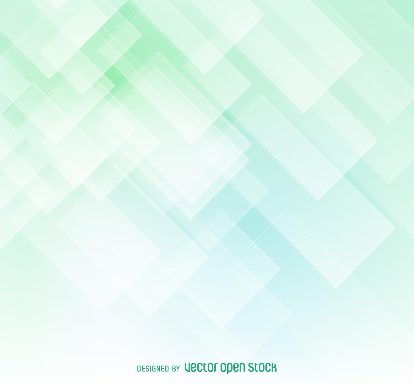 Geometric Soft Green Abstract Backdrop Vector