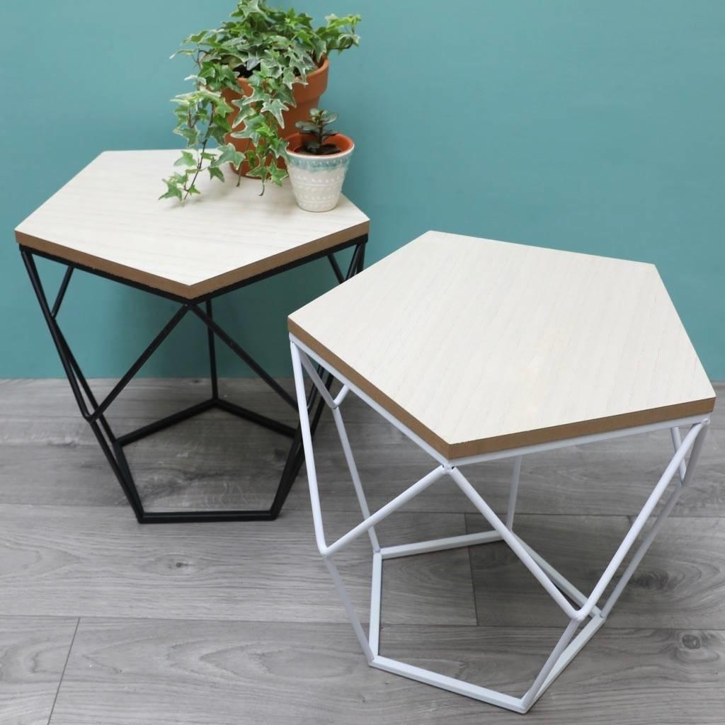 Geometric Wooden Side Table Lisa Angel