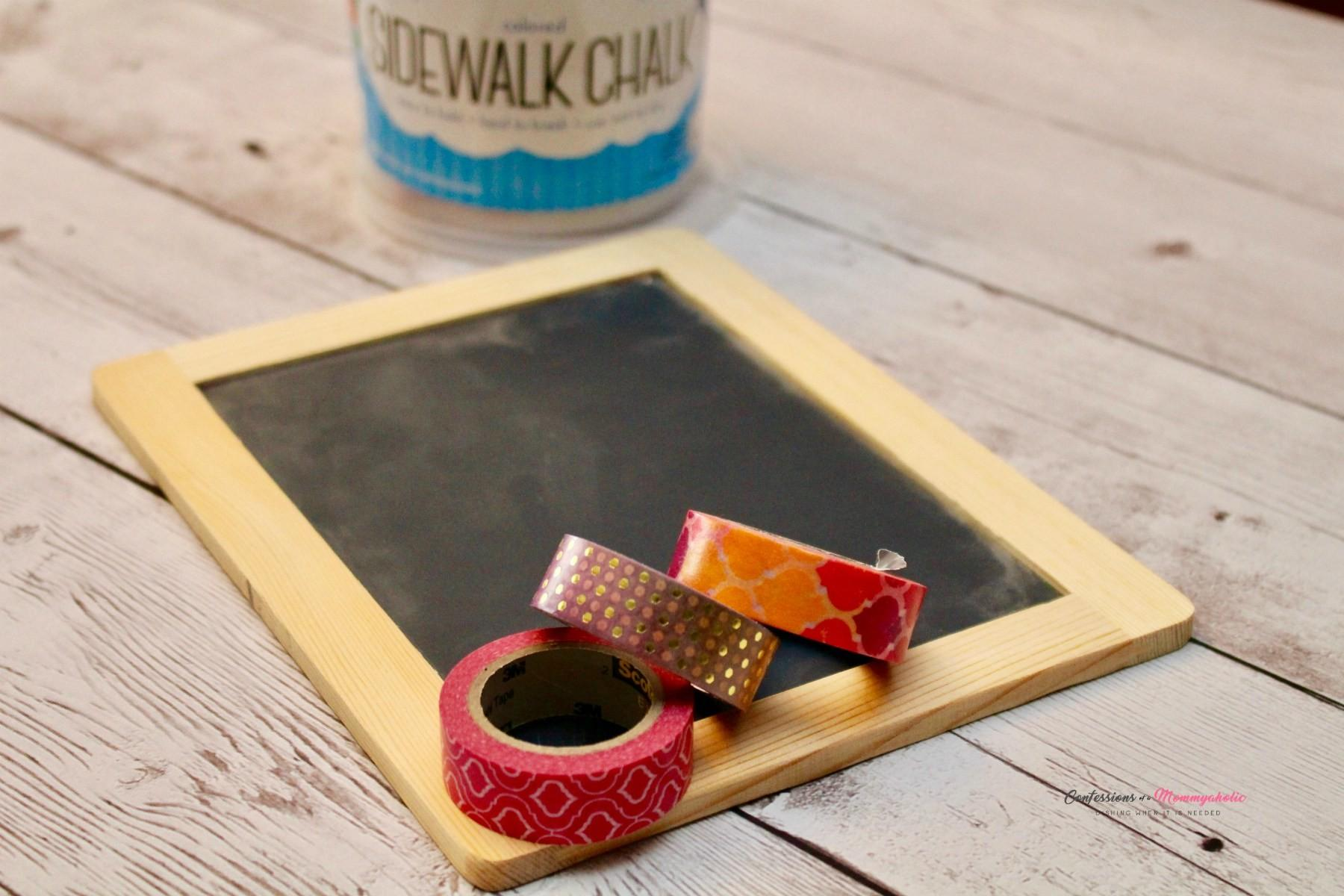 Get Back School Diy Washi Tape Chalkboard