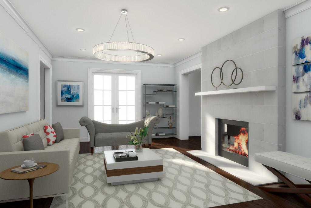 Get High End Contemporary Living Room Design