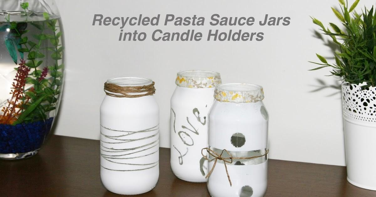 Get Your Recycled Jar Candle Holders