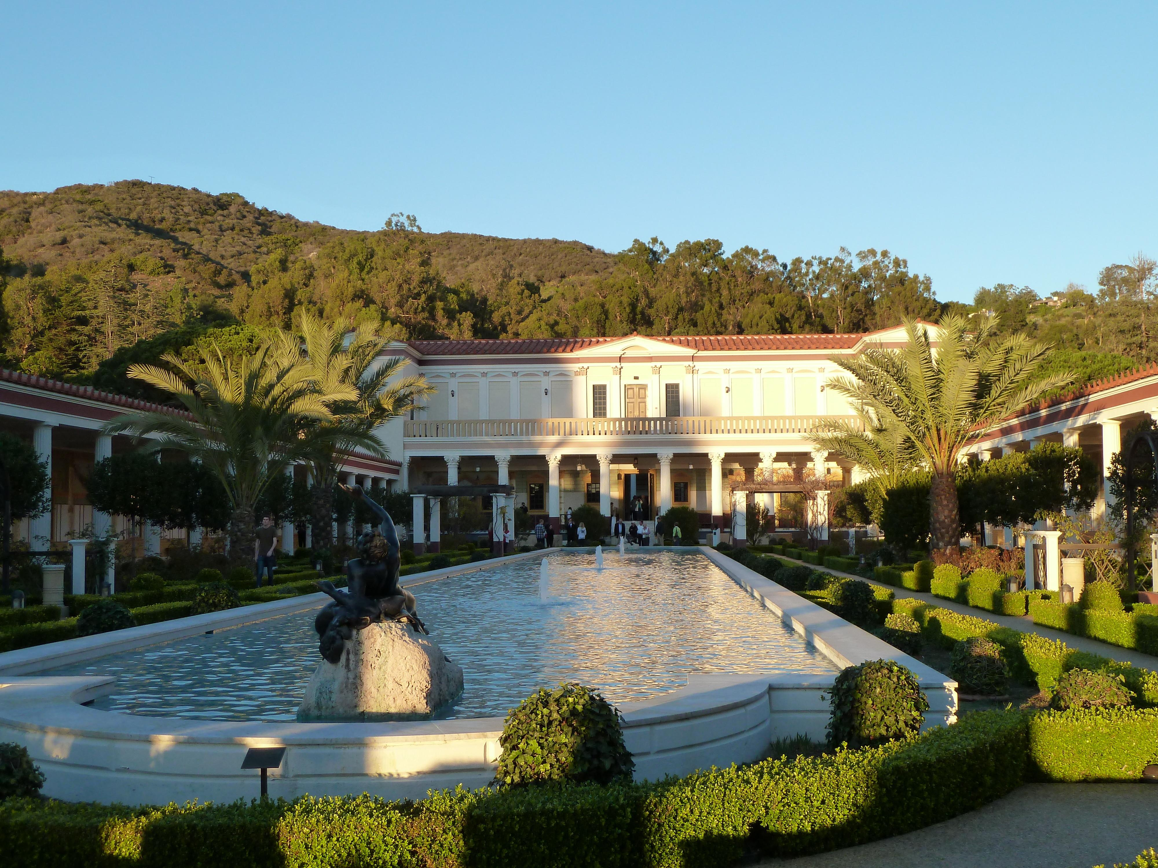 Getty Villa Outer Peristyle Wikimedia Commons