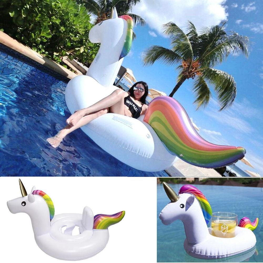 Giant Children Boat Raft Inflatable Unicorn Mount Float