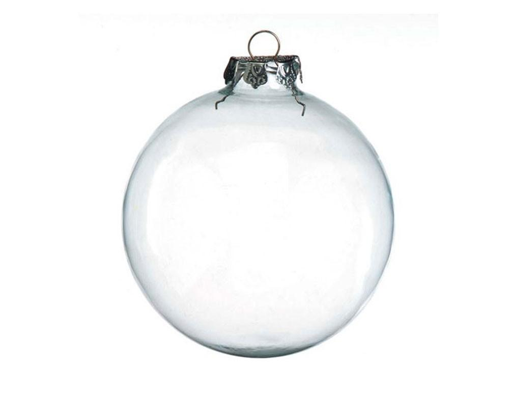 Giant Fillable 100mm Clear Glass Ball Christmas Bauble