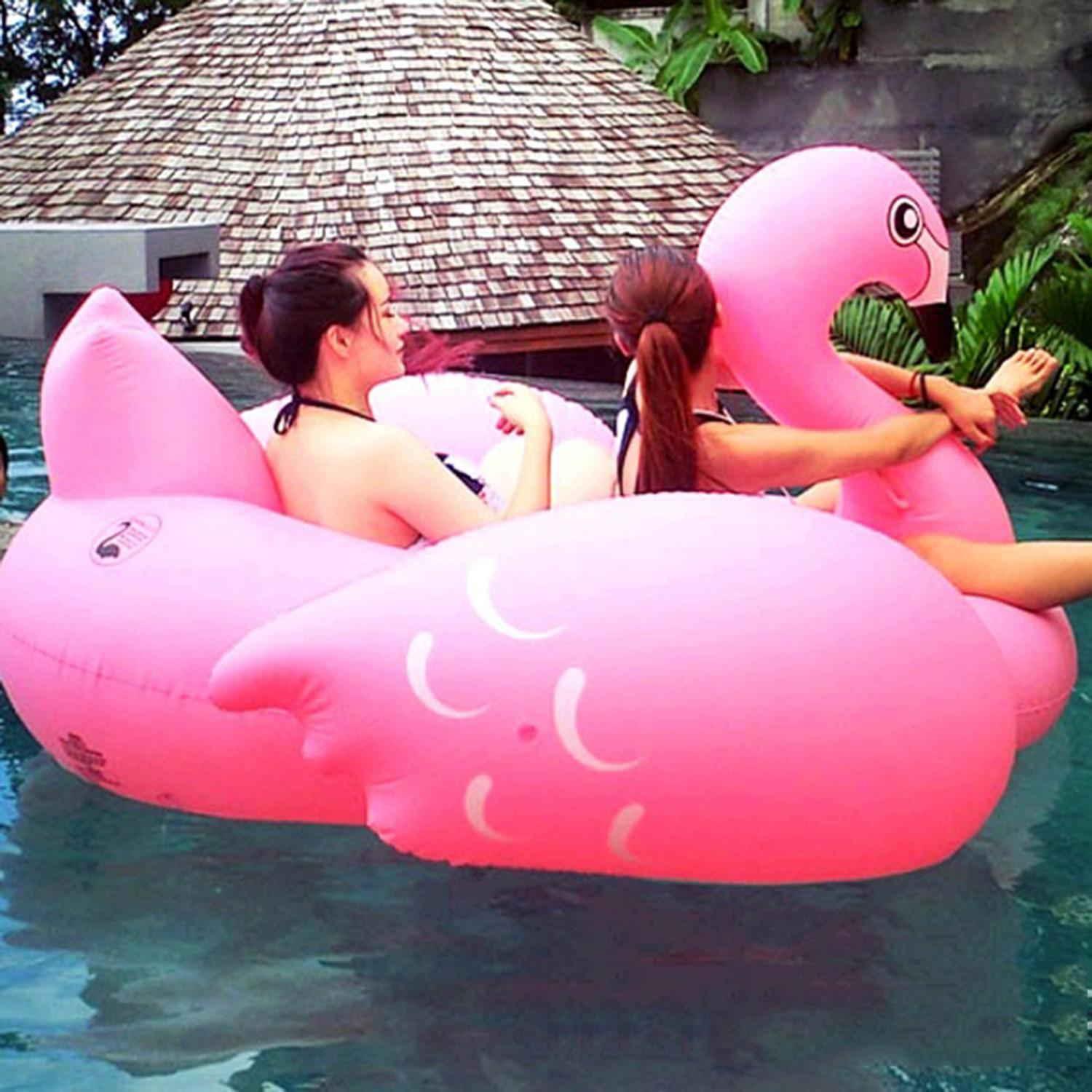 Giant Flamingo Inflatable Pool Toy Kids Pink Water Float