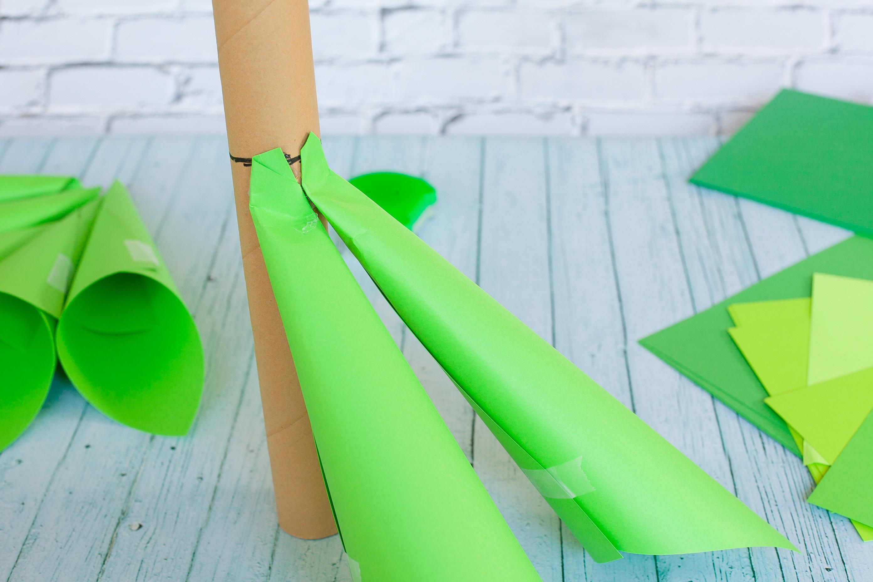 Giant Ombre Paper Cone Christmas Trees Diy Tutorial