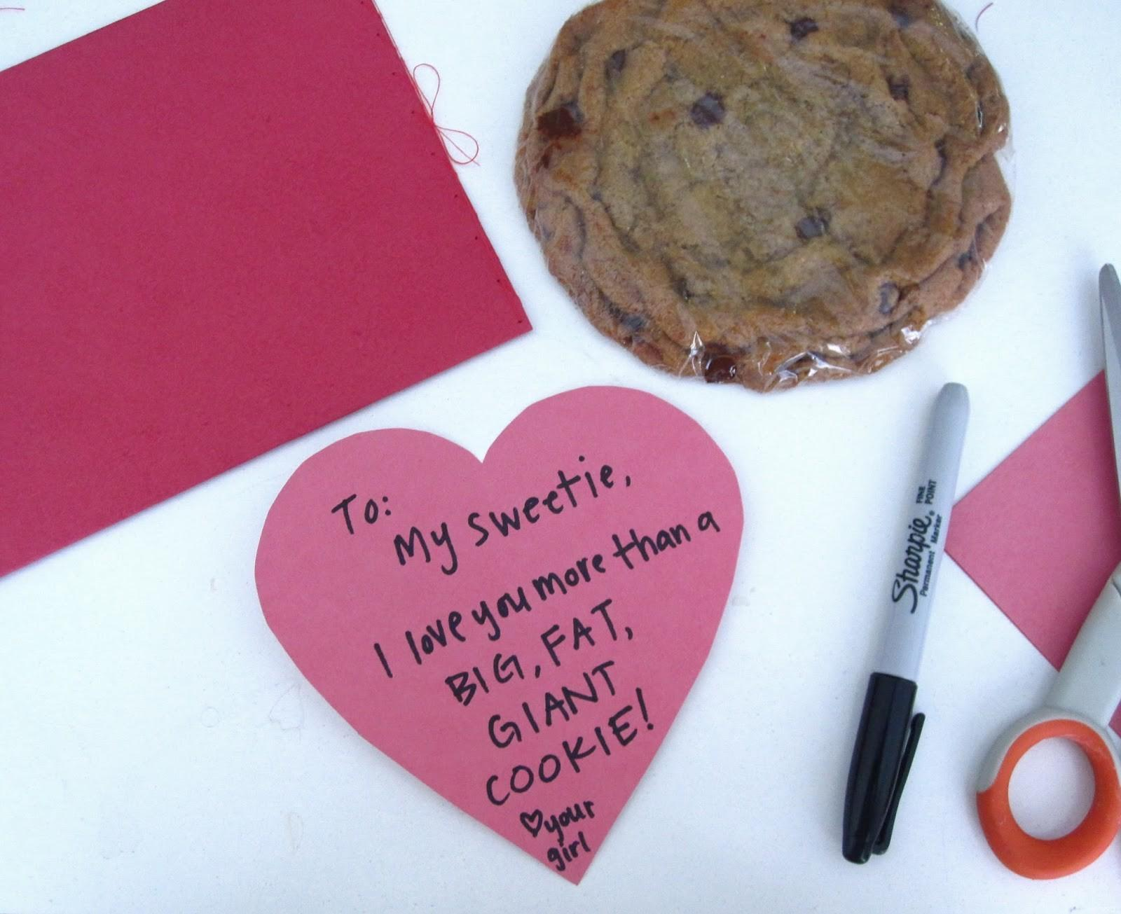 Giant Single Serving Cookie Gift Custom Diy Valentine