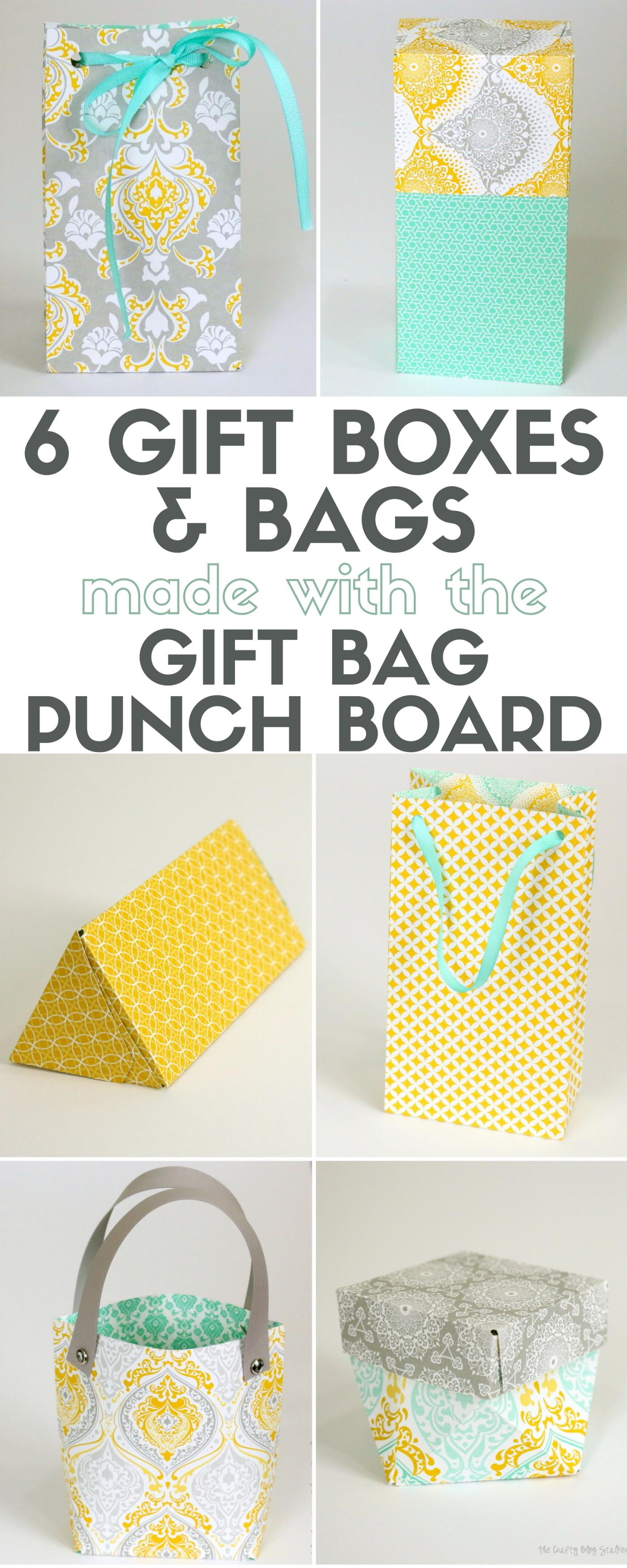 Gift Boxes Bags Made Bag Punch Board