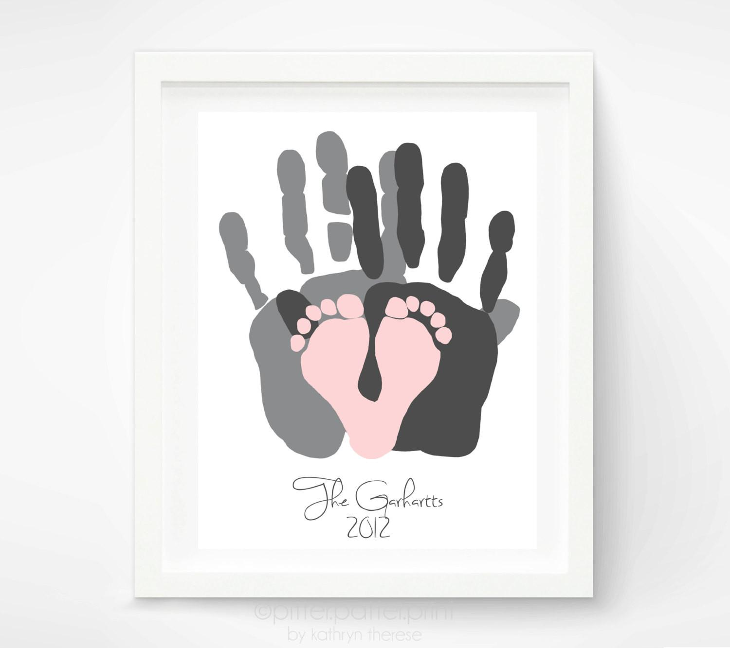 Gift New Dad First Father Day Pitterpatterprint