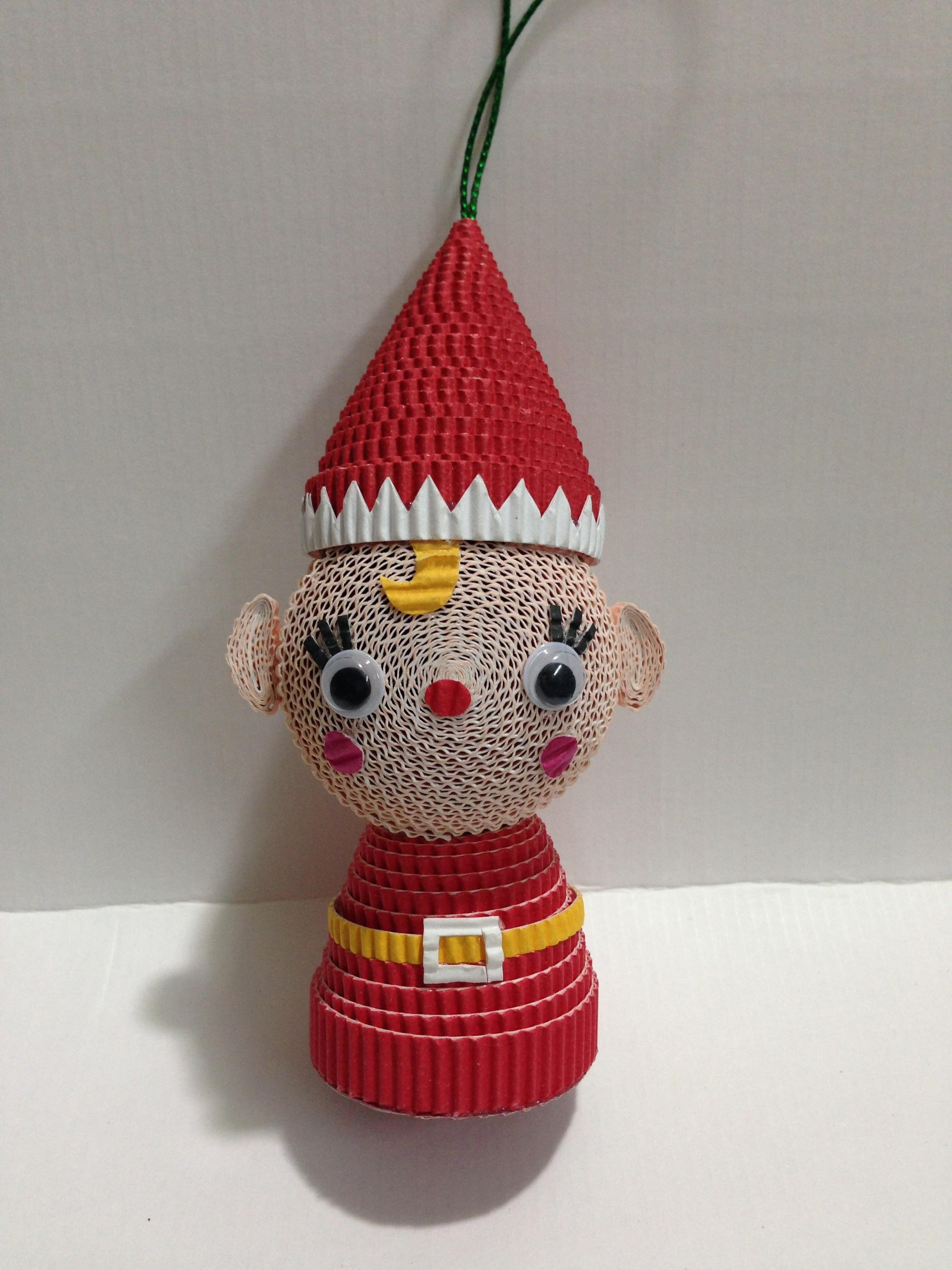 Gifts Crafts Paper Craft Christmas Ornament Red Elf