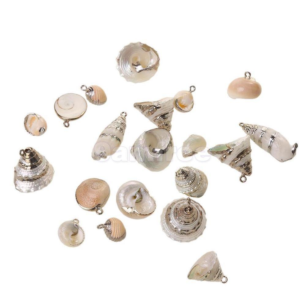 Gilding Conch Sea Shell Beads Pendant Charms Jewelry