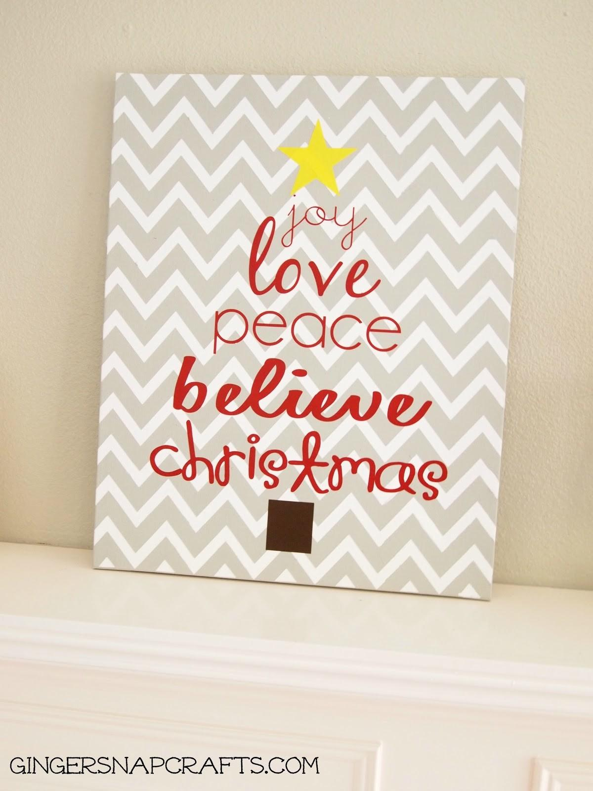 Ginger Snap Crafts Easy Knock Christmas Art Tutorial