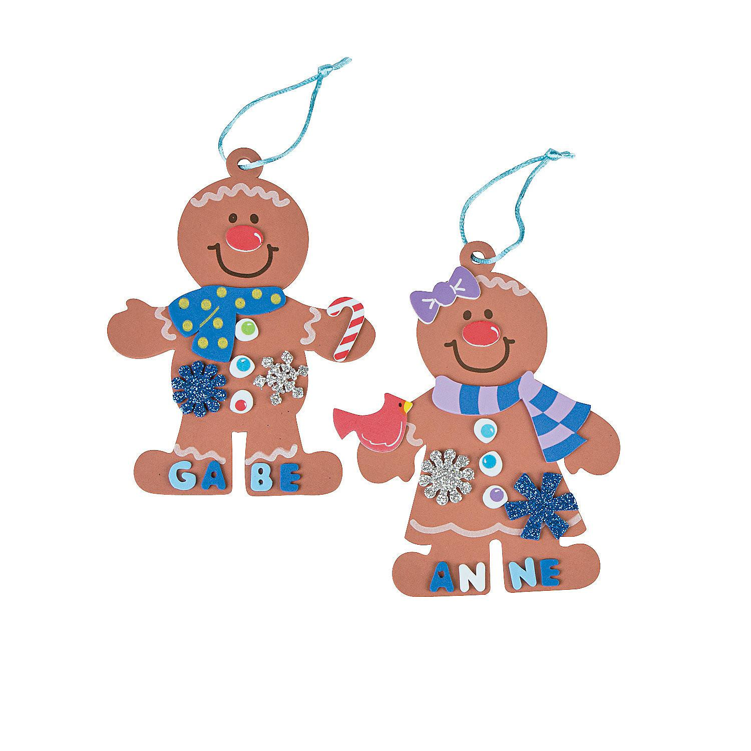 Gingerbread Christmas Ornament Craft Kit Oriental Trading