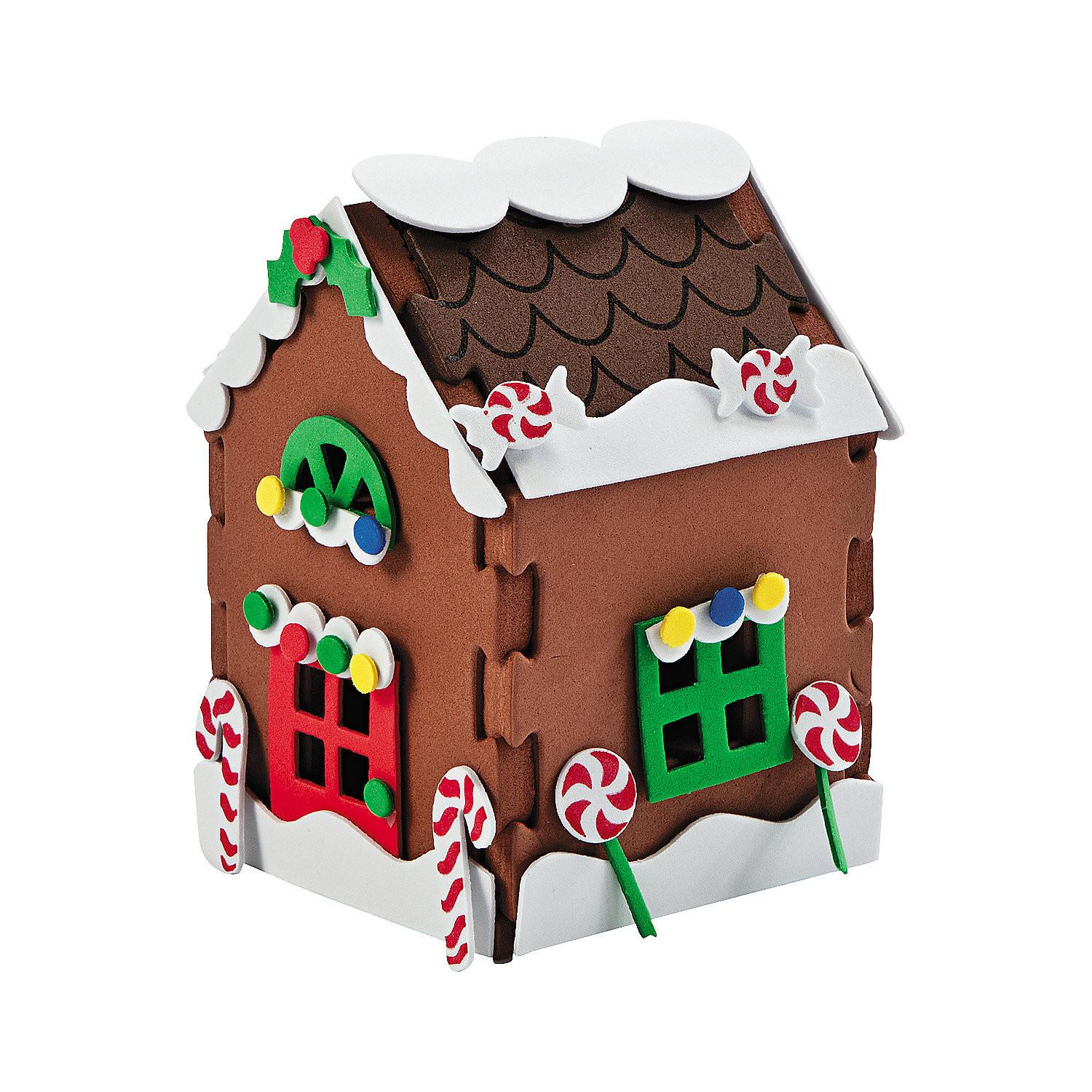 Gingerbread House Christmas Craft Kit Oriental Trading
