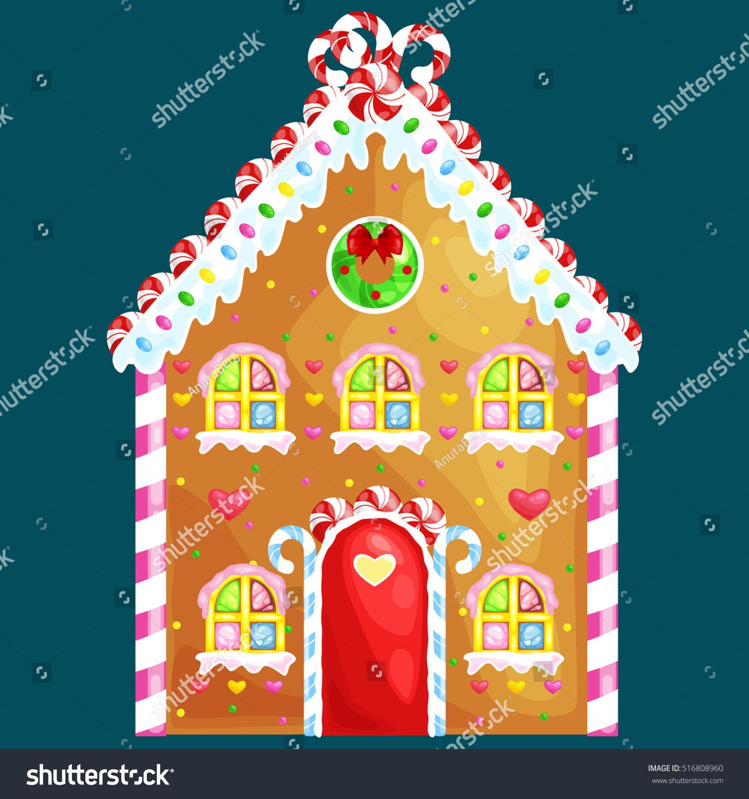 Gingerbread House Decorated Candy Icing Sugarchristmas