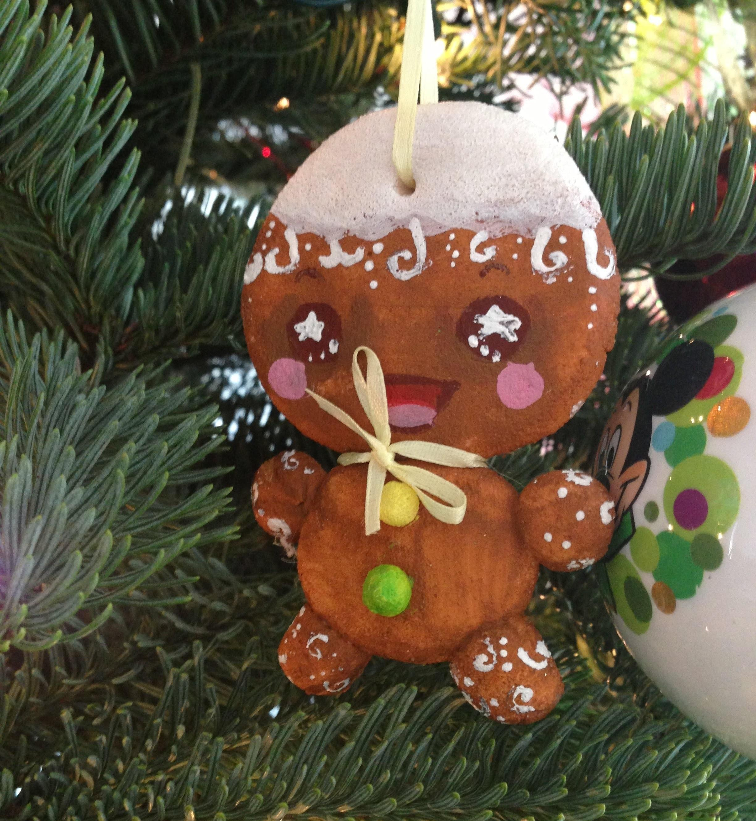 Gingerbread Man Mickey Mouse Ornament Diy