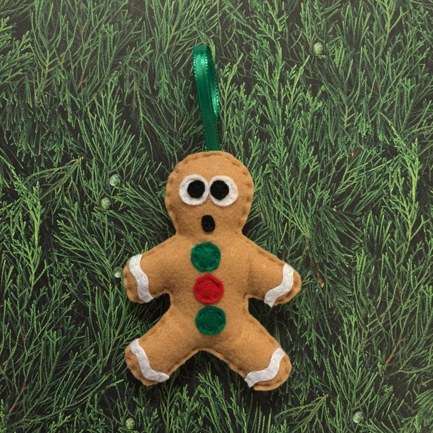 Gingerbread Man Ornament Felt