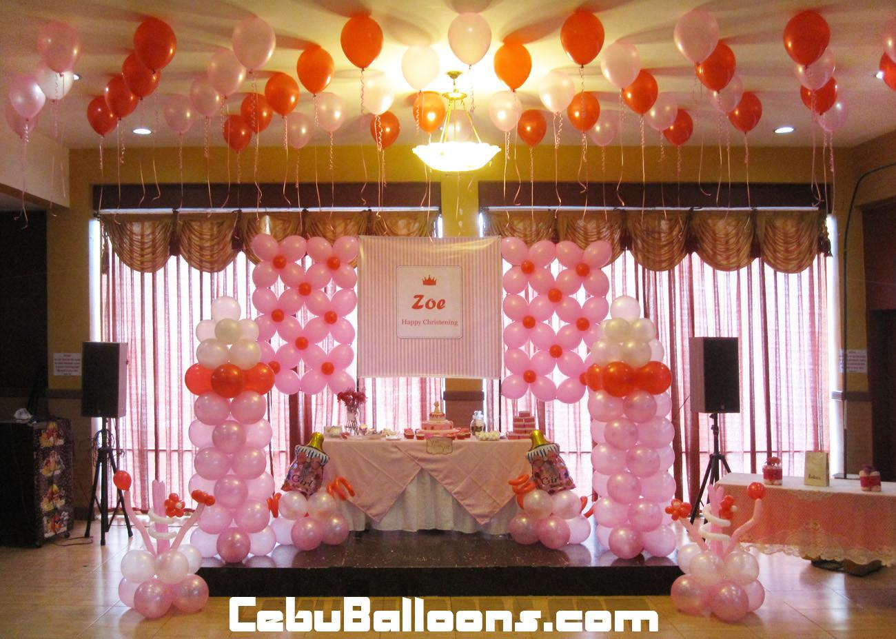 Girl Christening Balloon Decoration Hannah Party