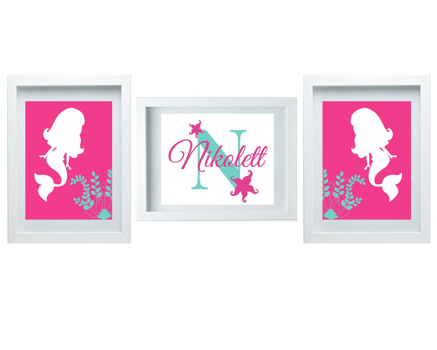 Girls Bedroom Decor Bathroom Mermaid Nursery