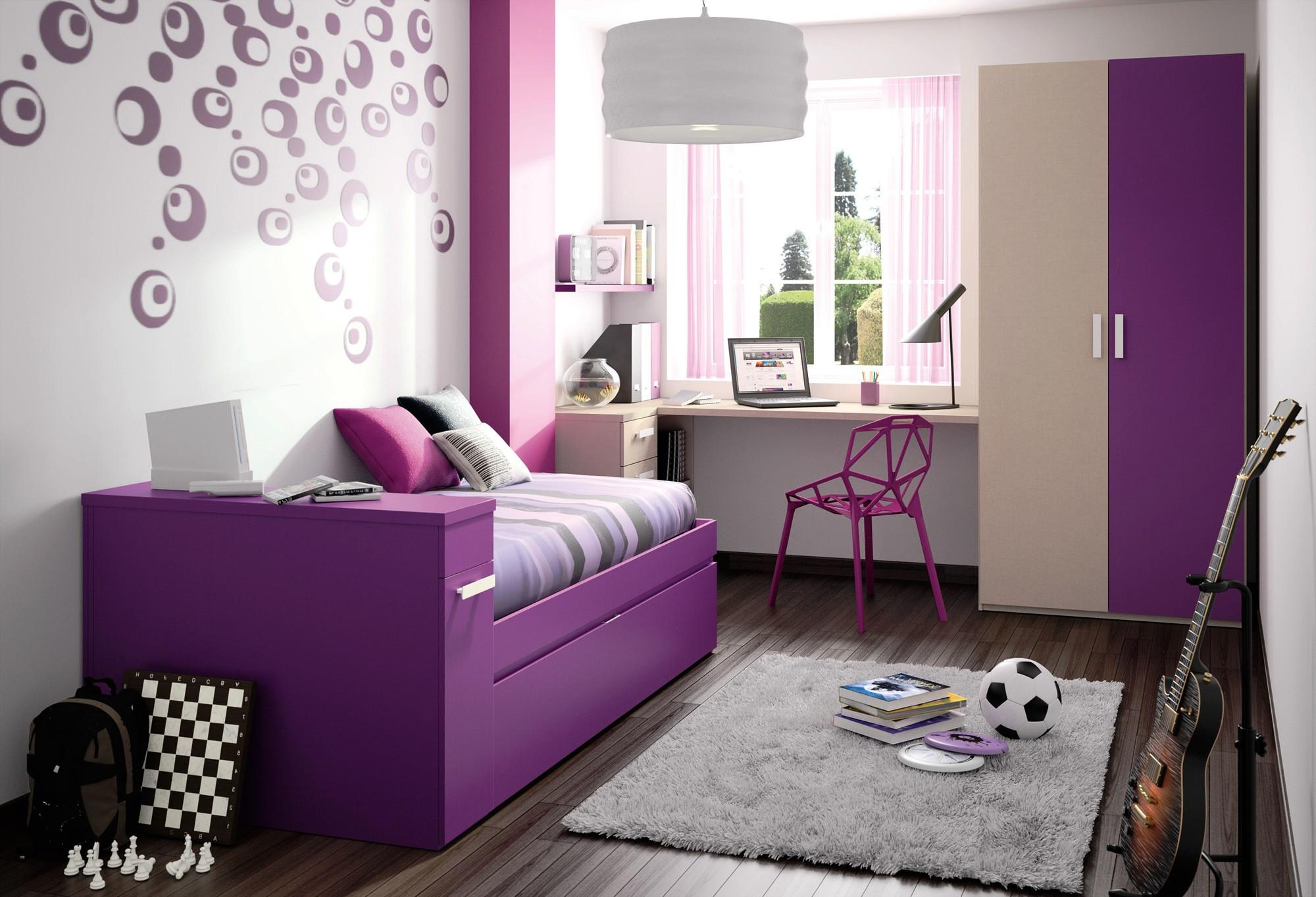 Girls Bedroom Purple Decorating Ideas Home Combo