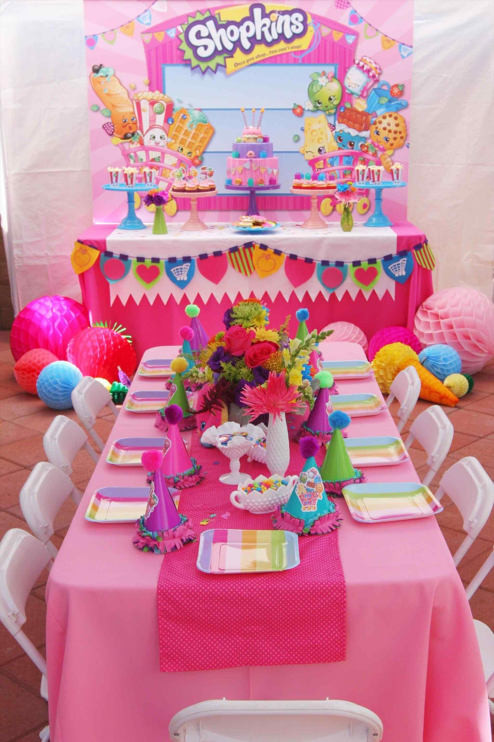 Girls Spa Birthday Decorations Party Cake Pink Teal Lime