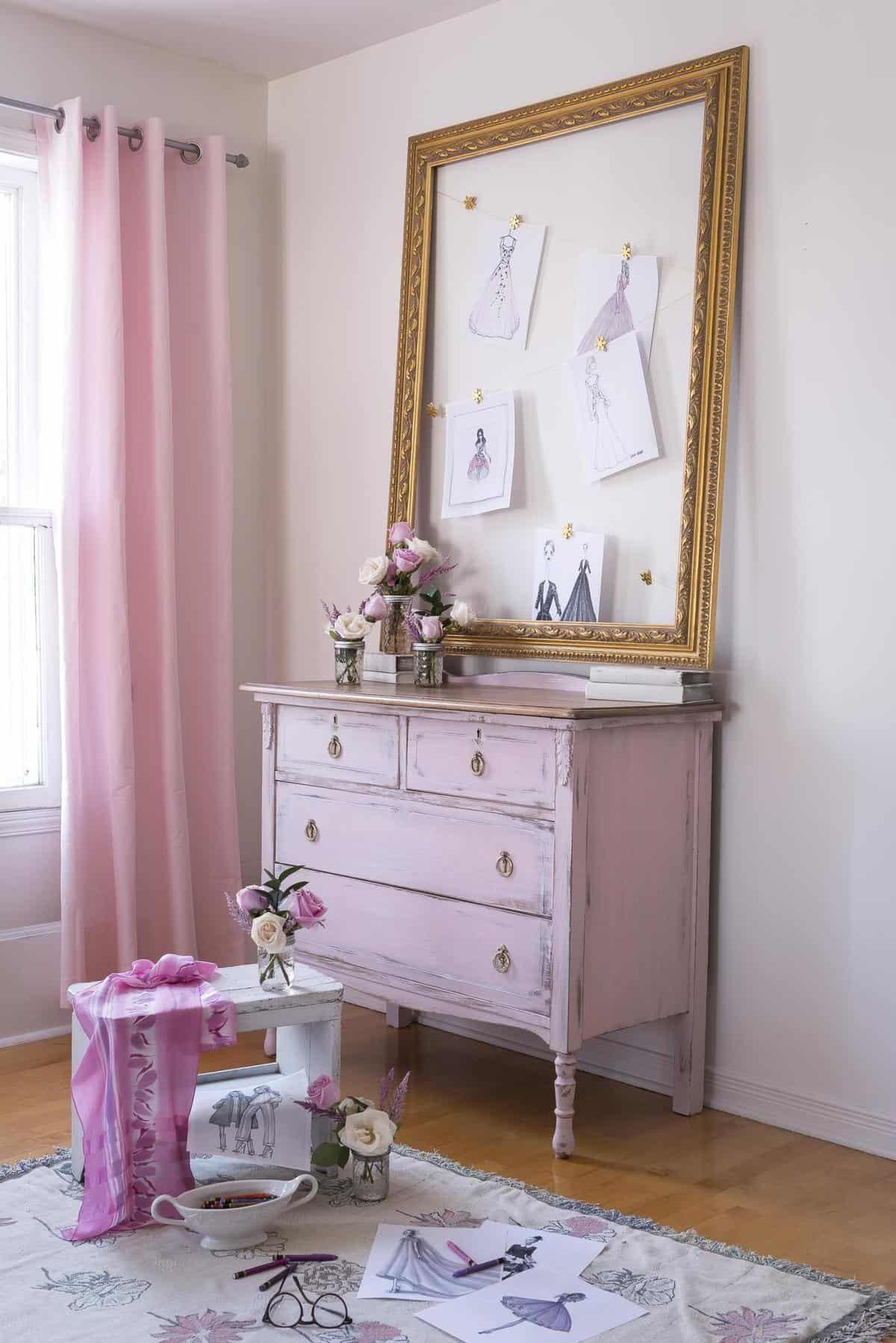Girly Pink Dresser Guest Post Country Chic Paint Blog