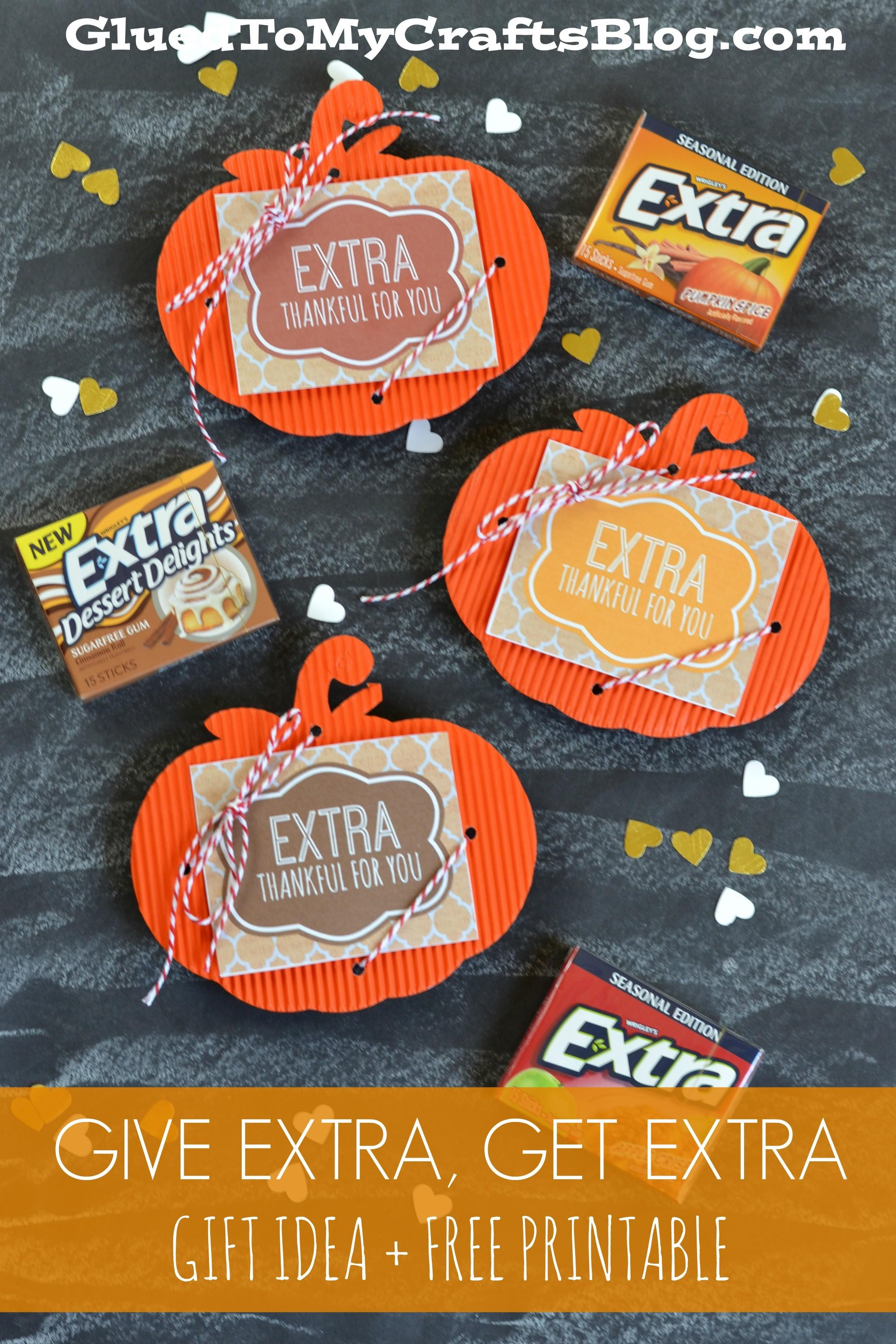 Give Extra Get Gift Idea Printable