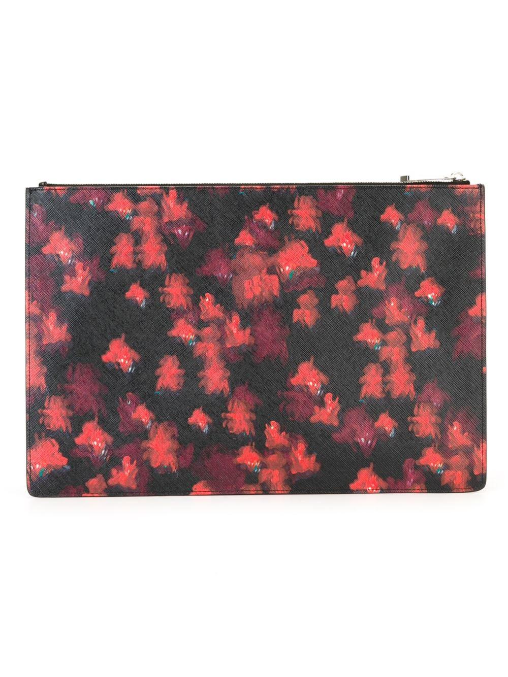 Givenchy Classic Floral Print Pouch Lyst
