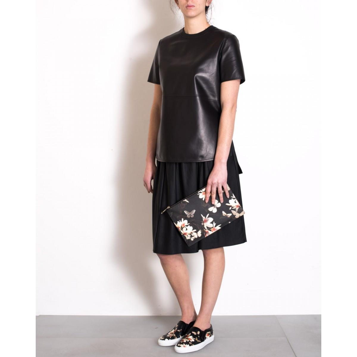 Givenchy Iconic Print Clutch Floral Multicolour Height