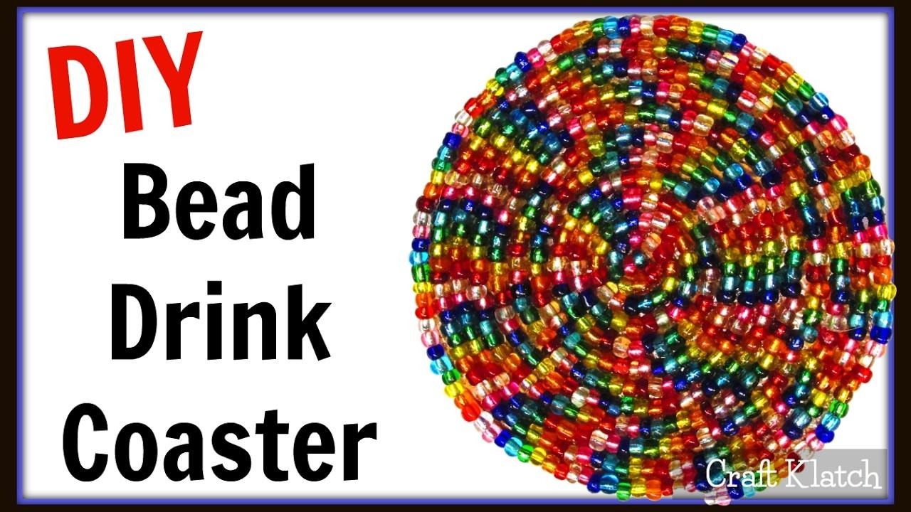 Glam Bead Drink Coaster Easy Diy Project Another