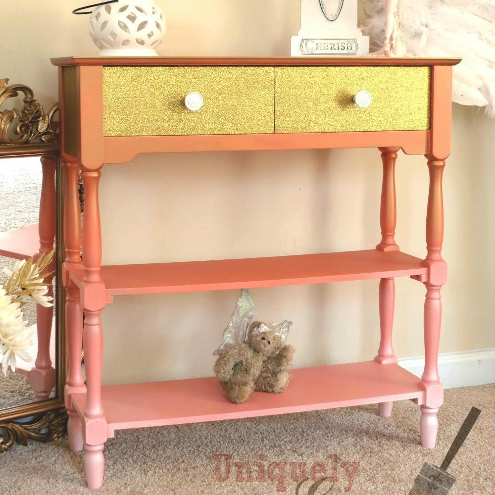 Glam Coral Table Makeover Diy Furniture Makeovers