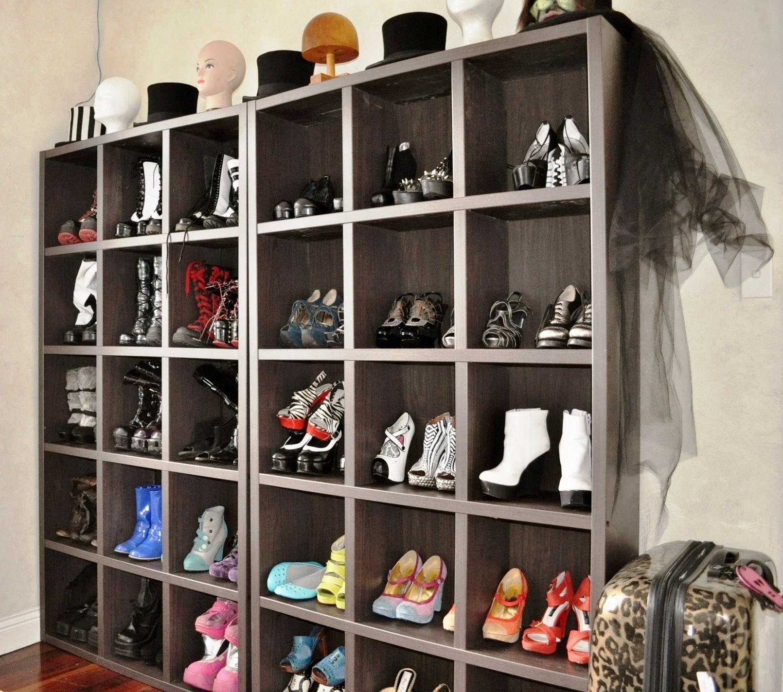Glam New Dressing Room Shoe Storage