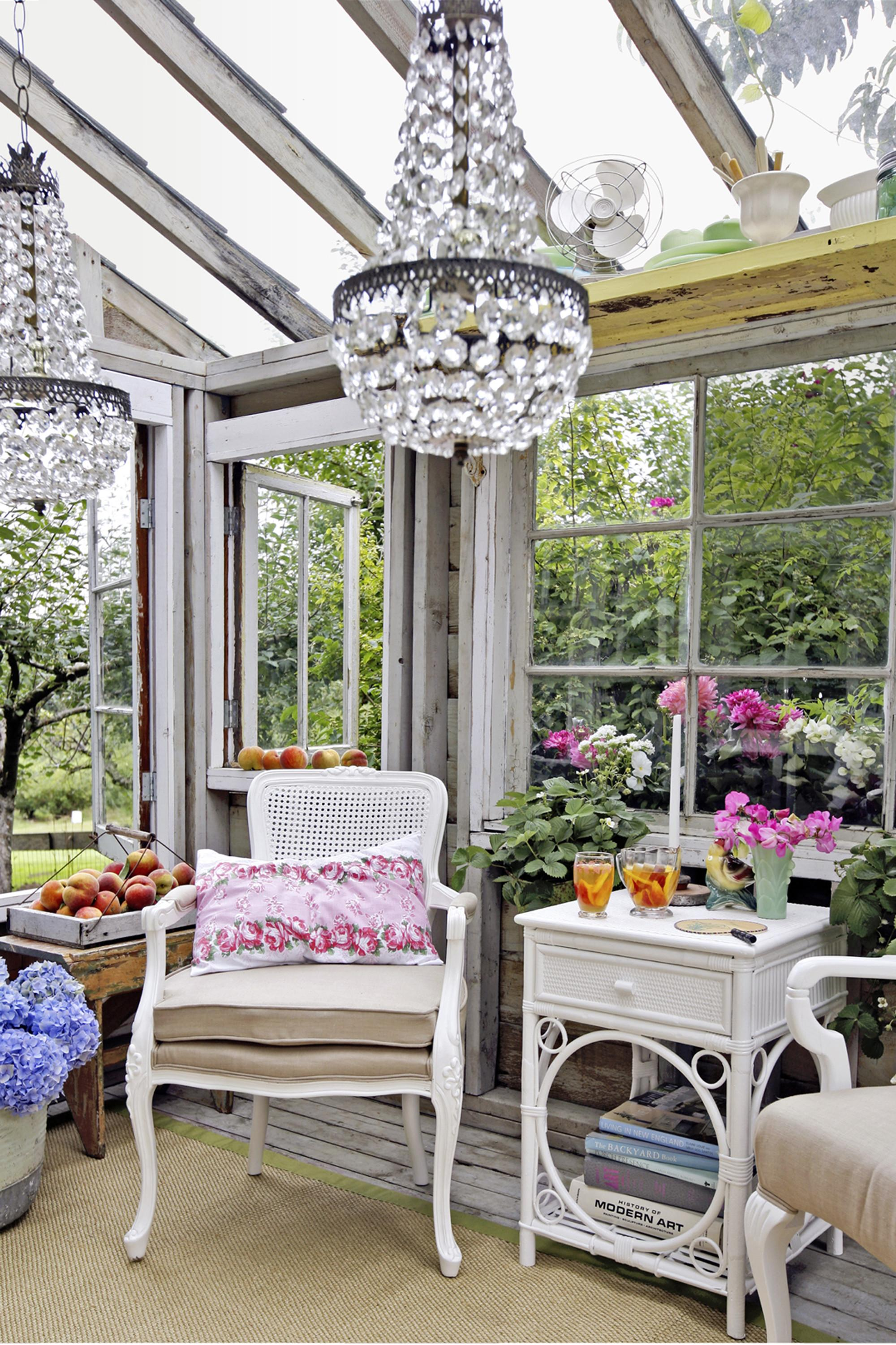 Glamorous Garden Shed Makeover Shabby Chic She