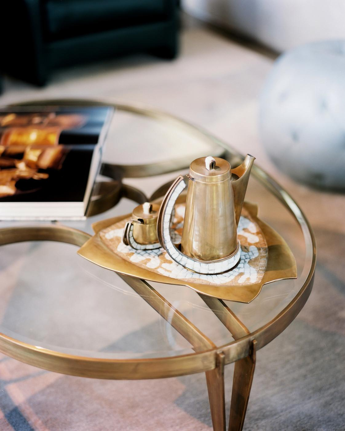 Glass Brass Coffee Photos Design Ideas Remodel