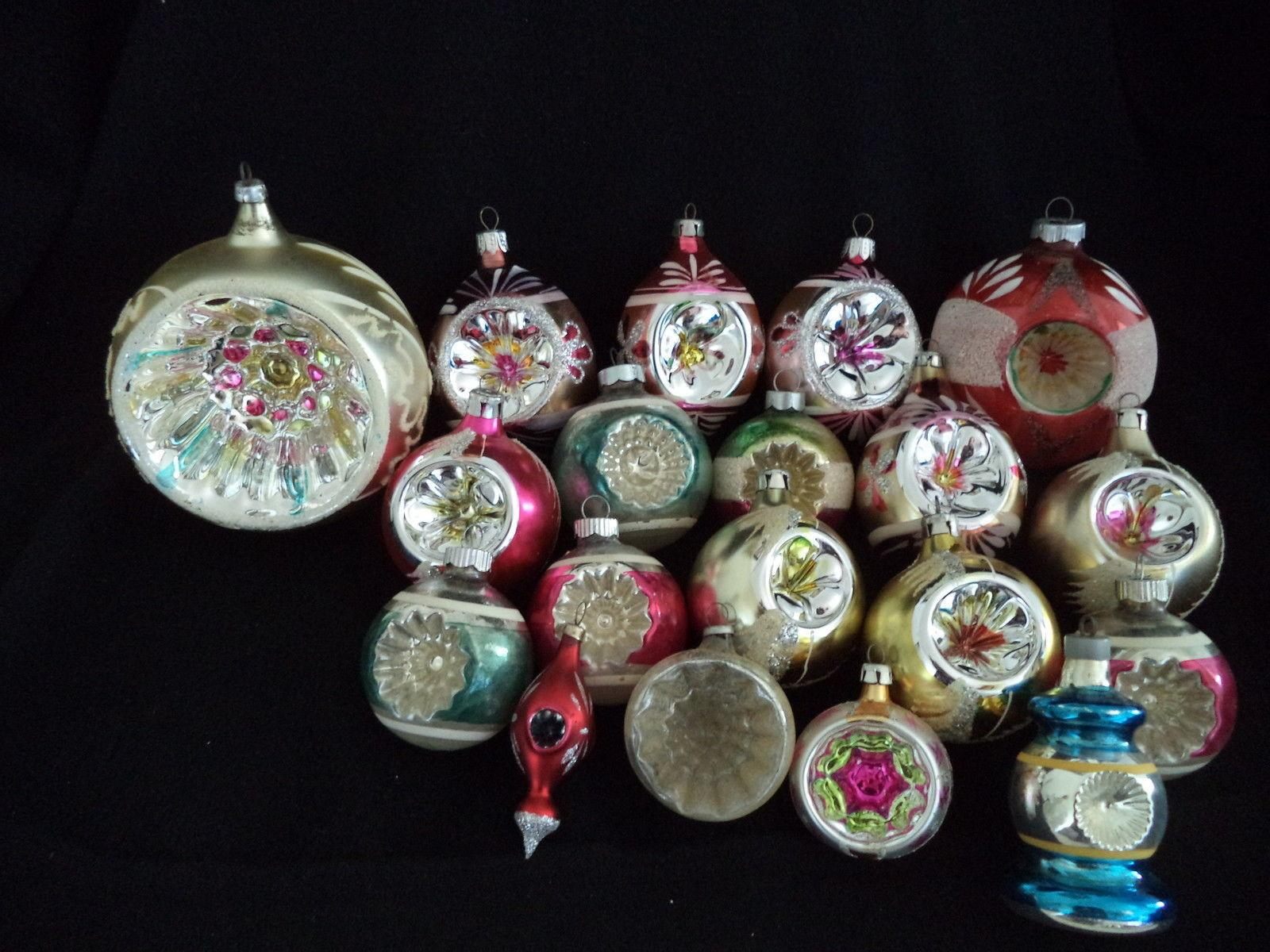 Glass Christmas Ornaments Merry
