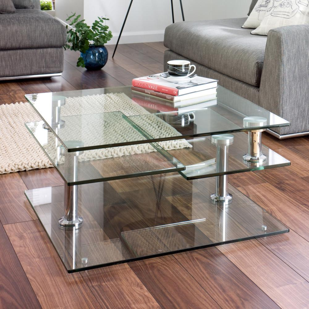 Glass Coffee Tables Bring Transparency Your