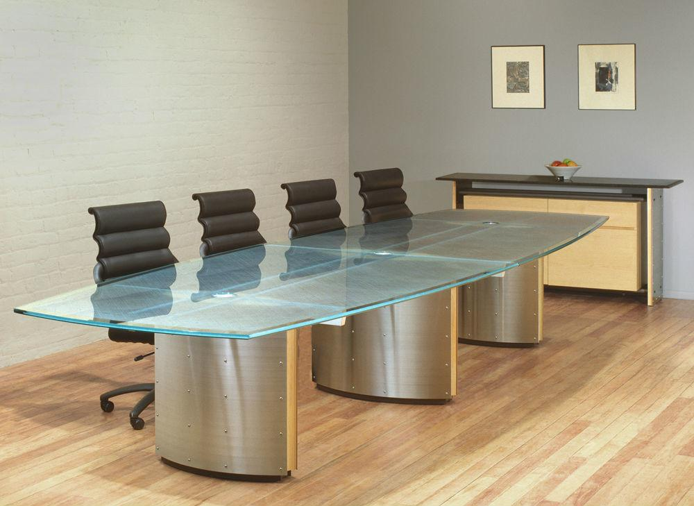 Glass Conference Table Modern Office Furniture