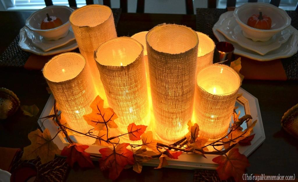 Glass Cylinder Centerpiece Guest Post Frugal