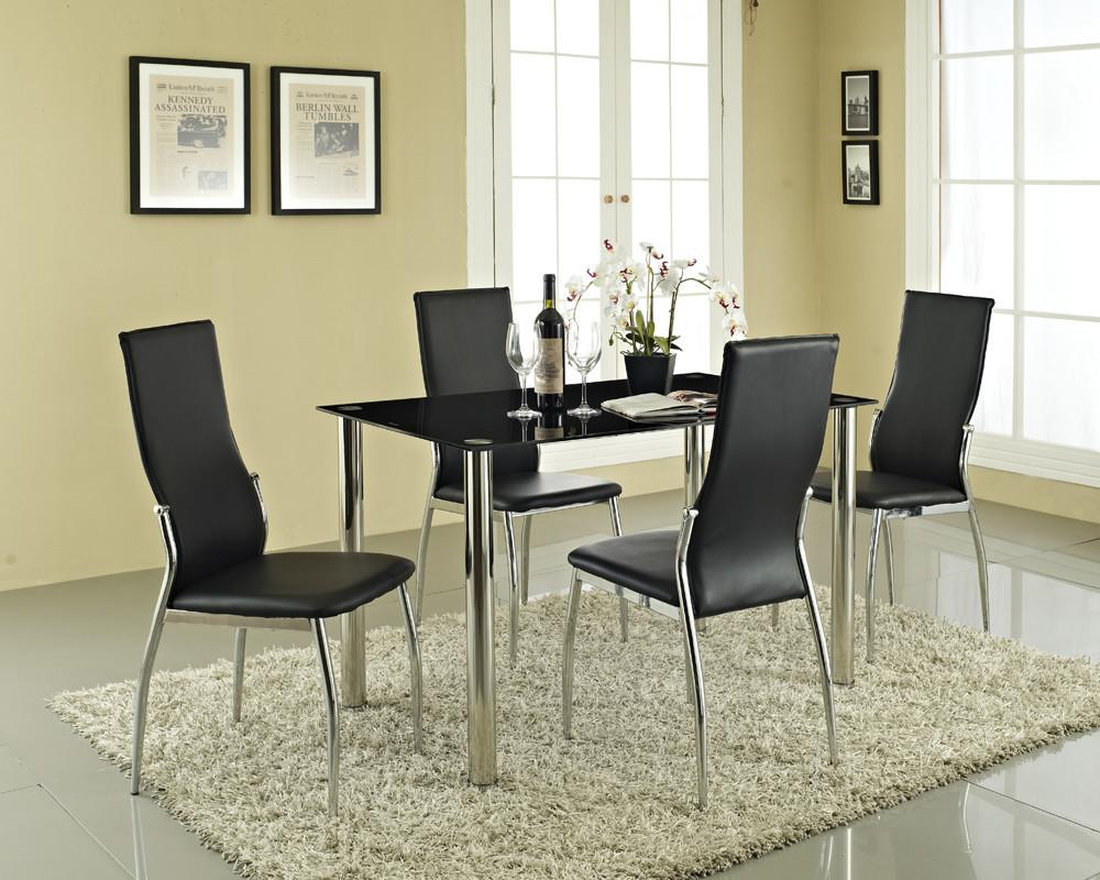 Glass Dining Table Chairs Sleek Contemporary
