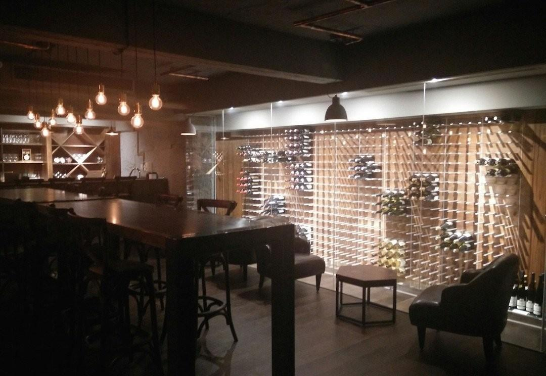 Glass Enclosed Wine Cellars Stact Racks